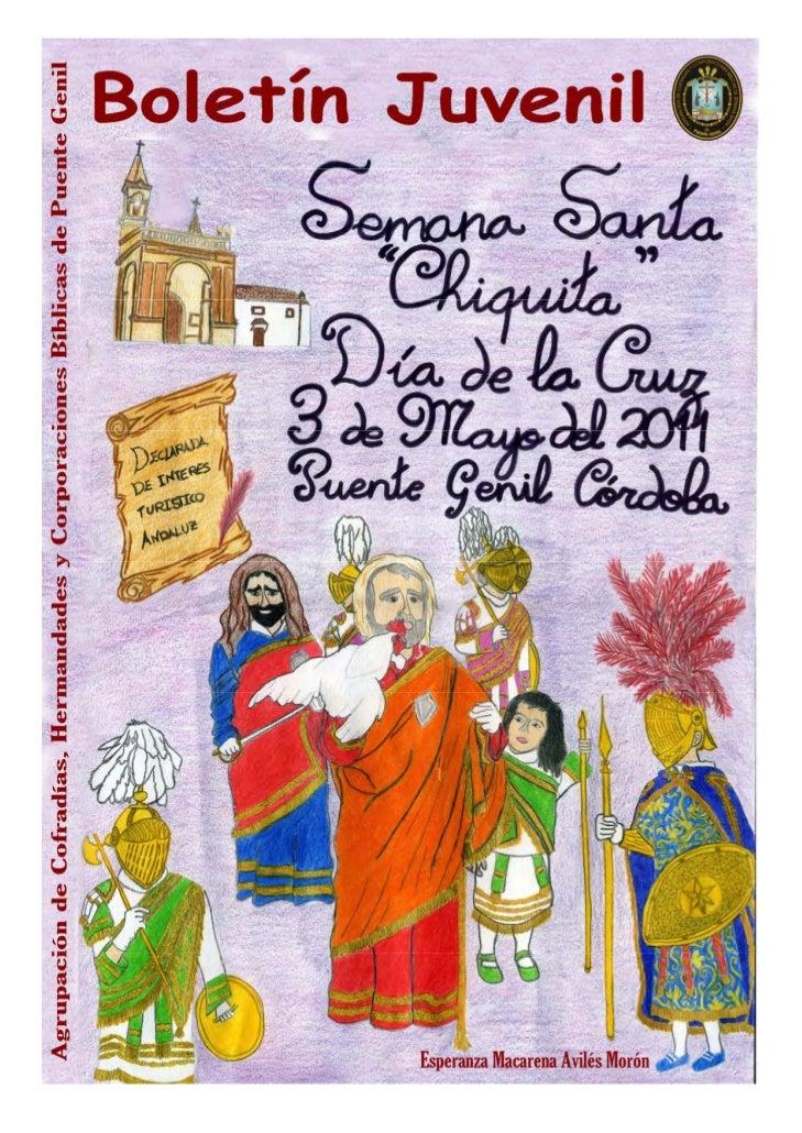 Boletín Juvenil - Semana Santa Chiquita de 2011             Semana Santa Chiquita 2011                                    ...