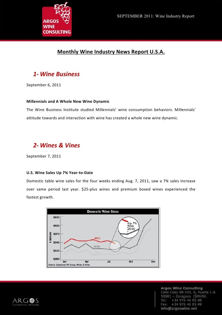 __    SEPTEMBER 2011: Wine Industry Report                  Monthly Wine Industry News Report U.S.A.   1- Wine BusinessSep...