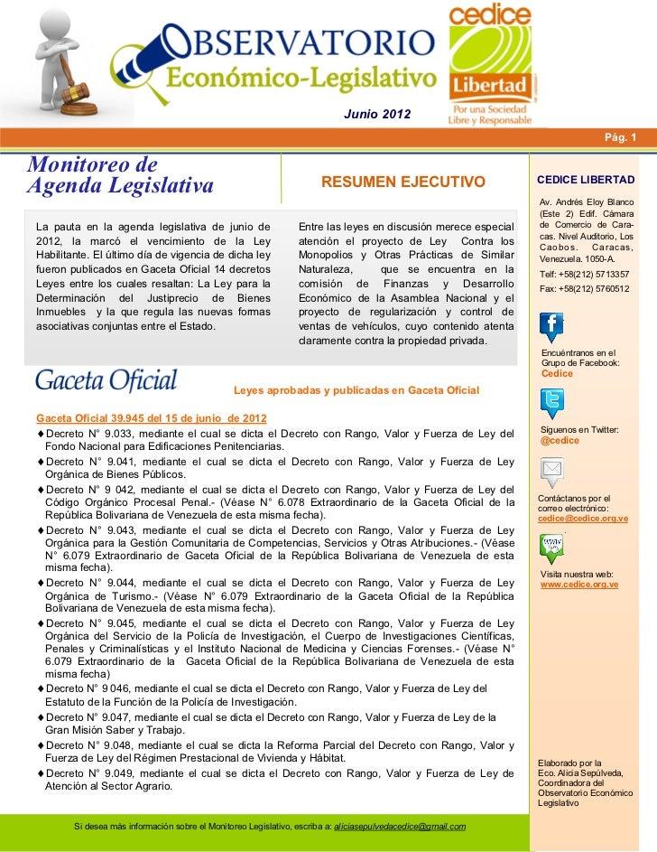Boletín monitoreo+a legislativa+junio+2012