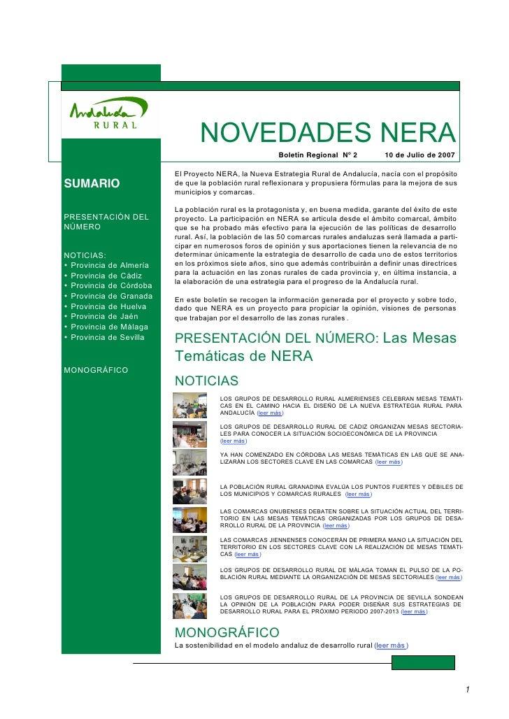 NERA - Las mesas temáticas