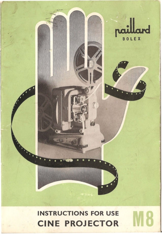 Bolex projector-m8-m8 r-user-manual
