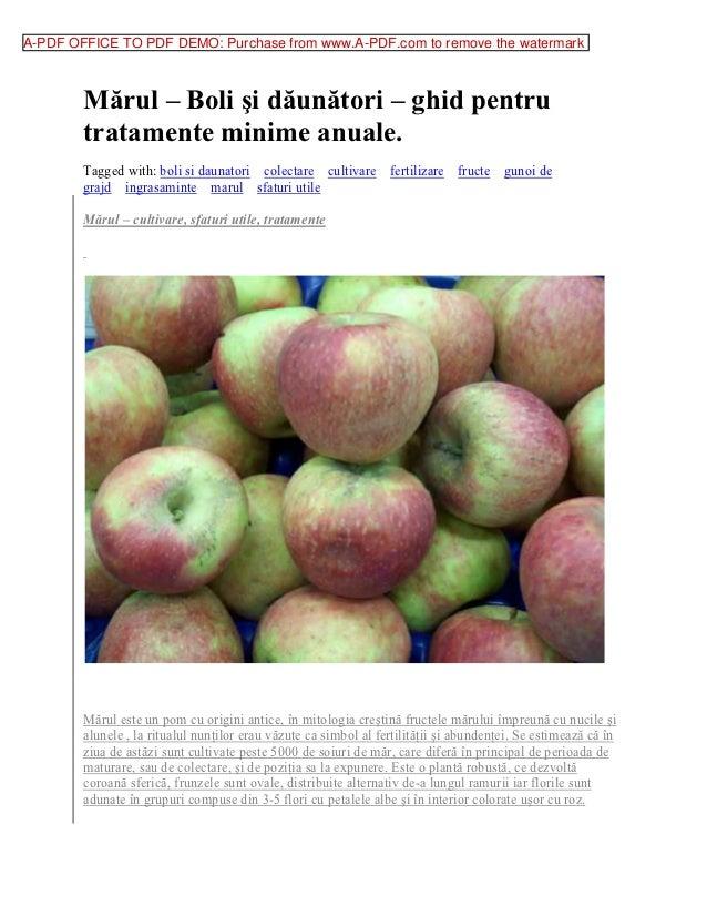A-PDF OFFICE TO PDF DEMO: Purchase from www.A-PDF.com to remove the watermark        Mărul – Boli şi dăunători – ghid pent...