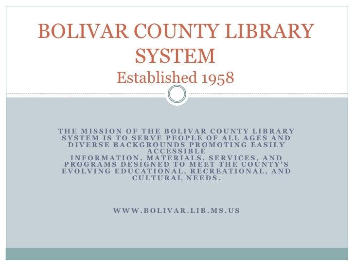 Bolivar County Library System