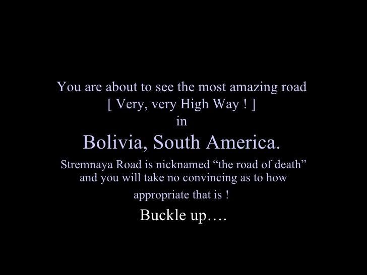 Bolivian highway1