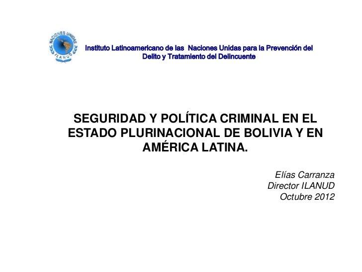 Instituto Latinoamericano de las Naciones Unidas para la Prevención del                    Delito y Tratamiento del Delinc...