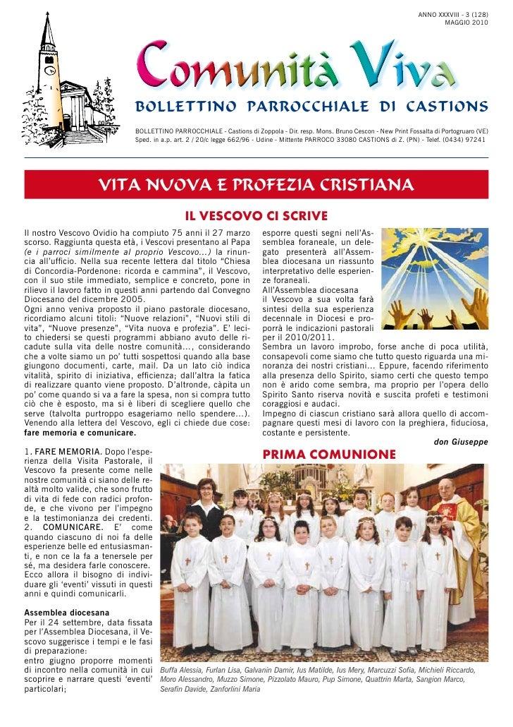 Bollettino parrocchiale maggio 2010