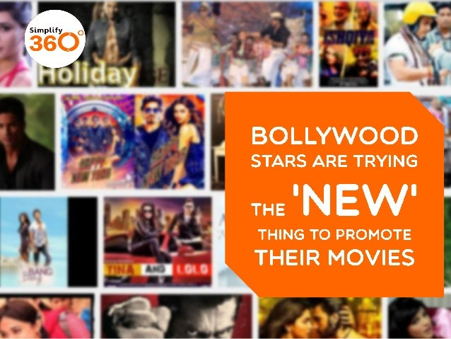 Bollywood Stars trying the 'new' thing to promote their movies