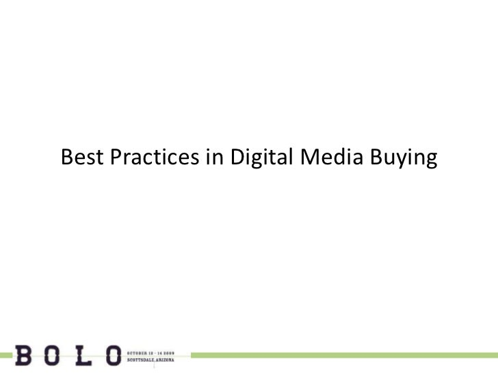 Best Practices in Digital Media Buying