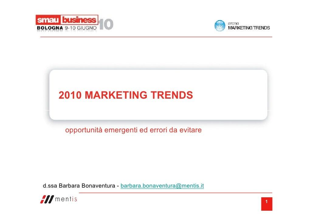 2010 marketing trends - Smau Bologna