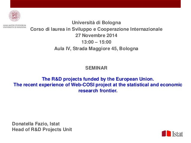 research projects in statistics