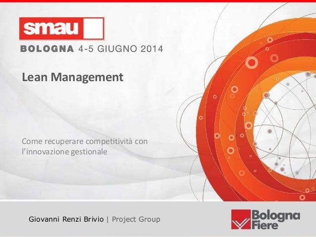 SMAU Bologna Lean management grb