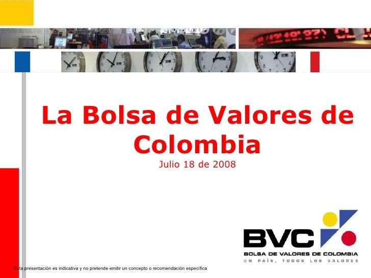 valores en colombia: