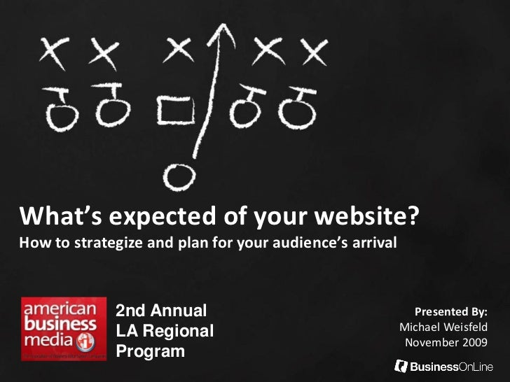 What's expected of your website?How to strategize and plan for your audience's arrival             2nd Annual             ...