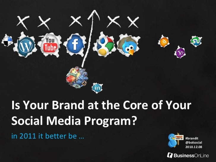 Is Your Brand at the Core of YourSocial Media Program?in 2011 it better be …         #brandit                             ...