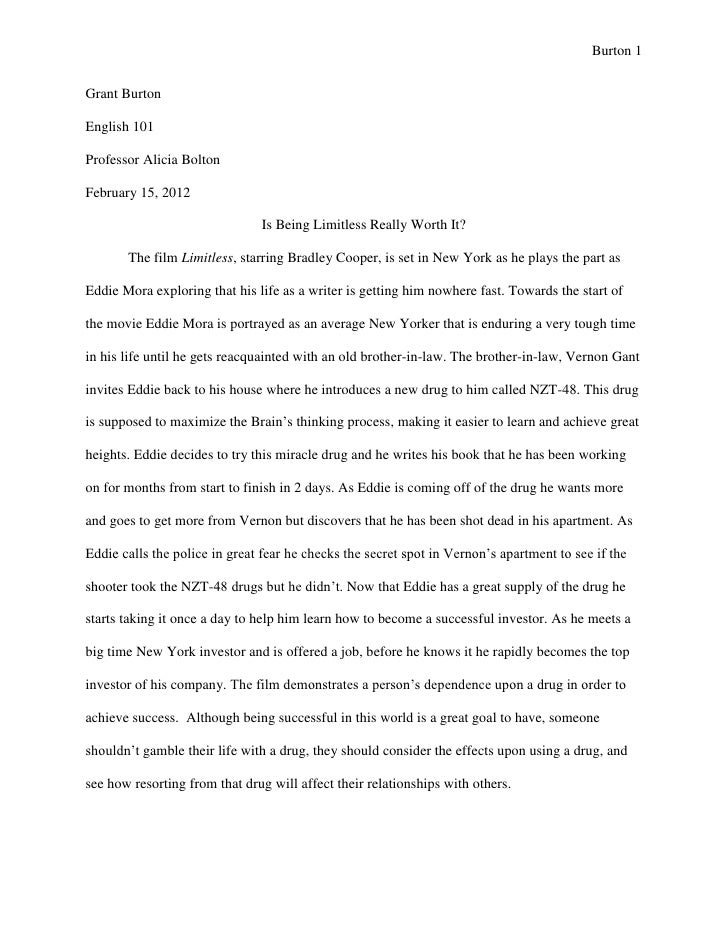 Evaluation essay on movie