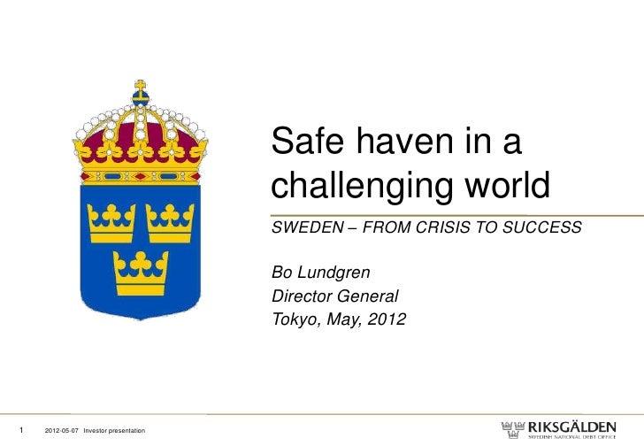 Presentation Bo Lundgren Tokyo 7-8 maj 2012