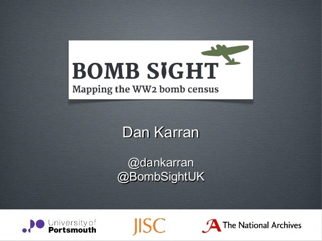 Dan Karran @dankarran@BombSightUK
