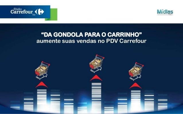 """""""DA GONDOLA PARA O CARRINHO""""  aumente suas vendas no PDV Carrefour"""