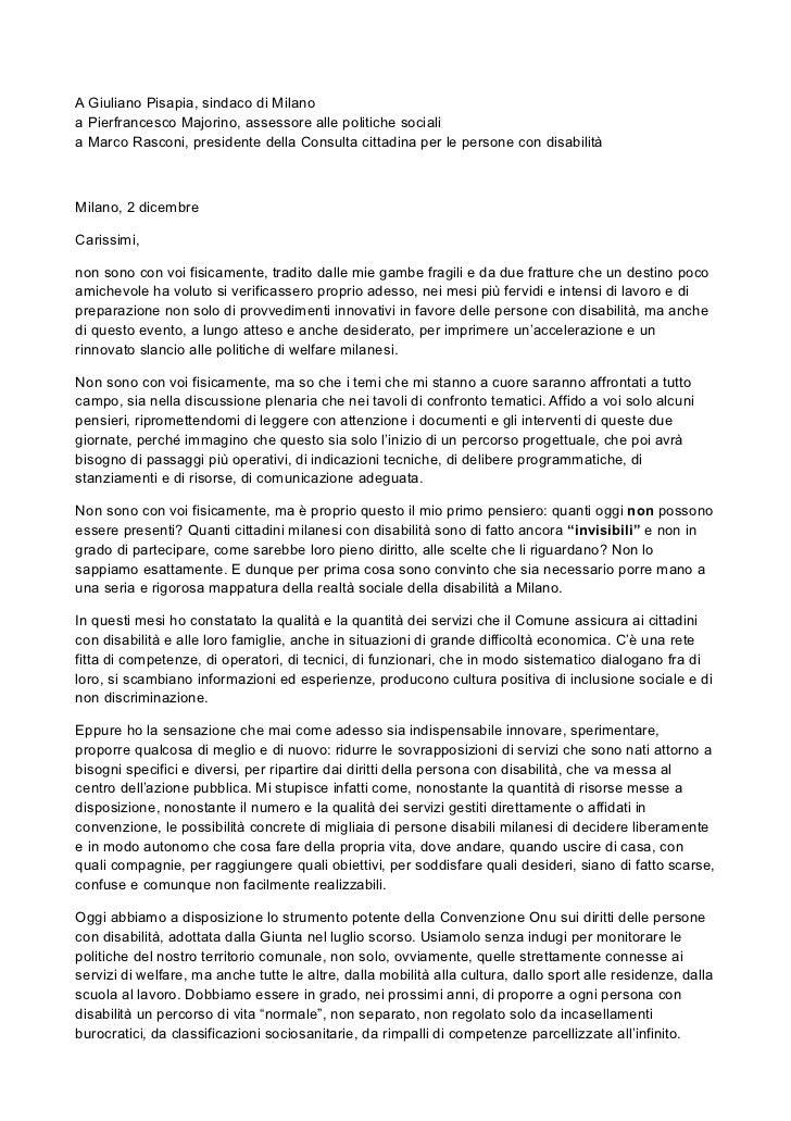 Lettera di Franco Bomprezzi