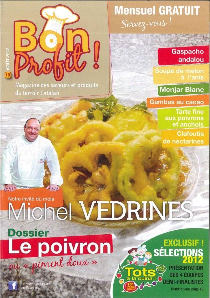 Michel Védrines à la Une de Bon Profit