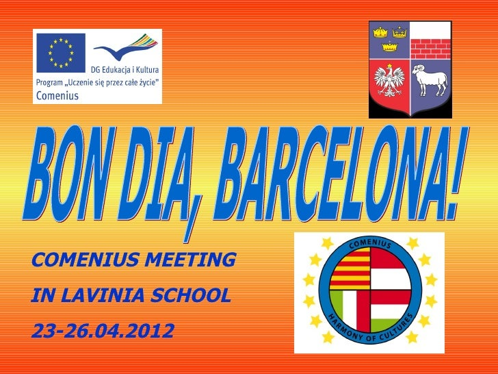 COMENIUS MEETINGIN LAVINIA SCHOOL23-26.04.2012