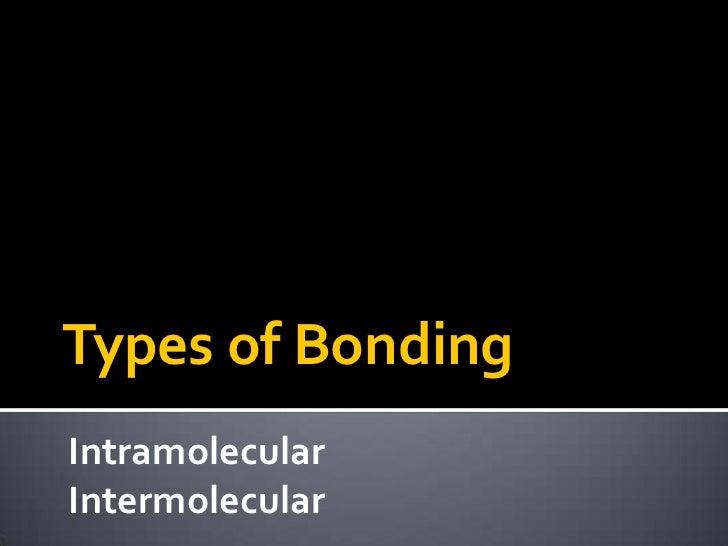 Types of BondingIntramolecularIntermolecular