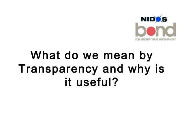 Bond nidos transparency_june2013