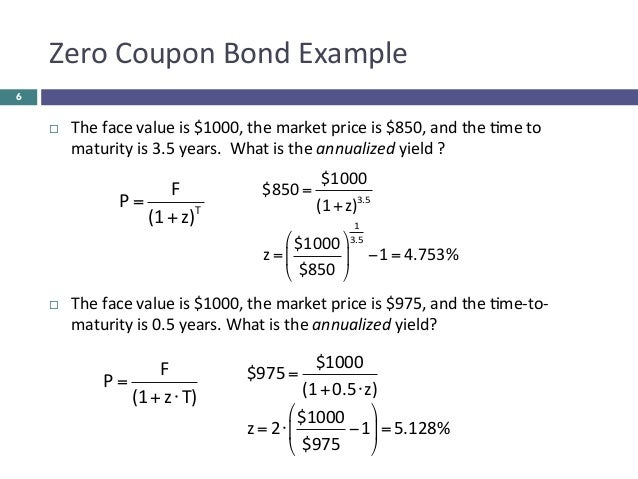 Formula For Yield To Maturity On A Coupon Bond