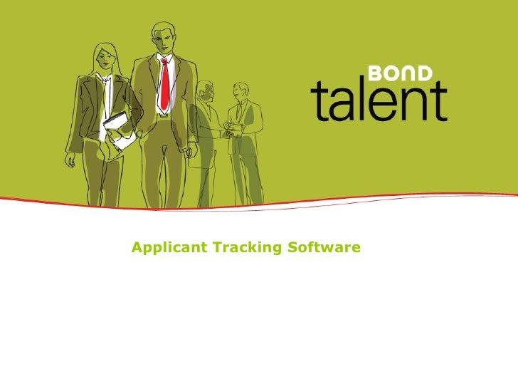 Bond Talent - Applicant Tracking Software