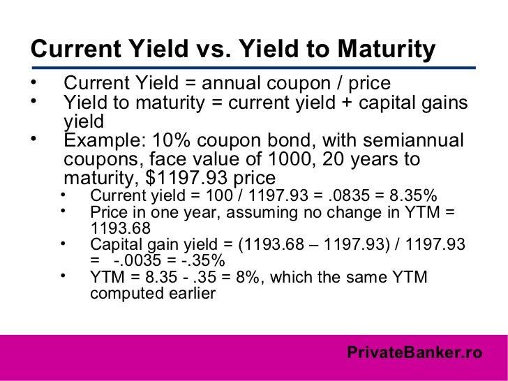 Yield To Maturity Formula