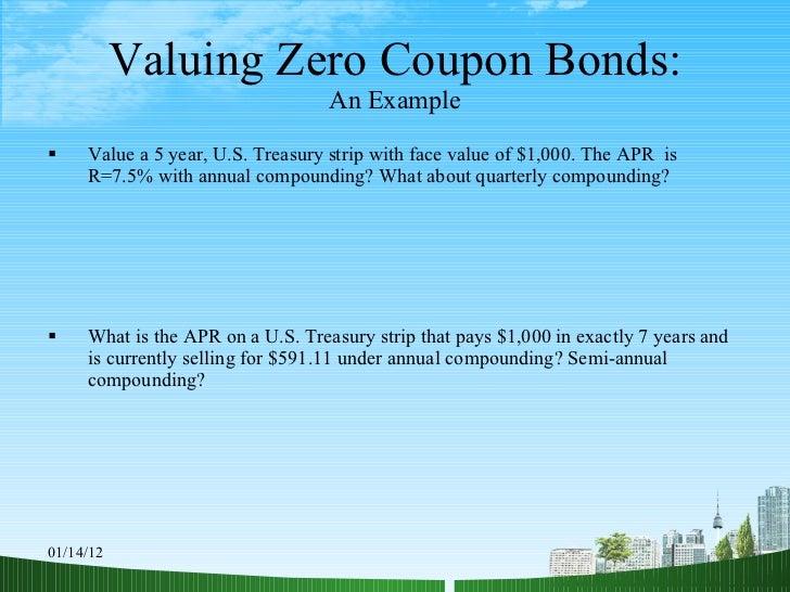 Zero coupon bond default