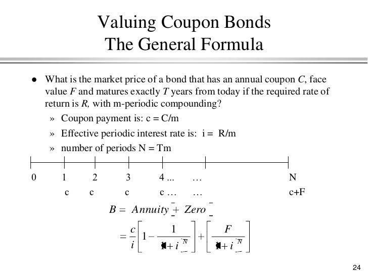 Zero coupon bond price formula