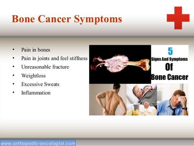 Signs bone cancer adults