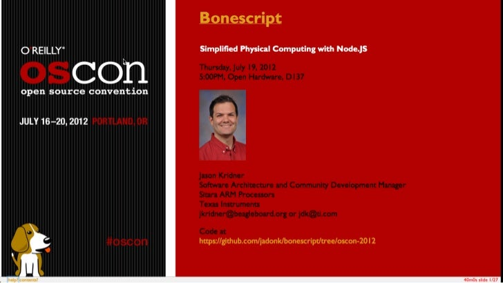 Bonescript at oscon 2012