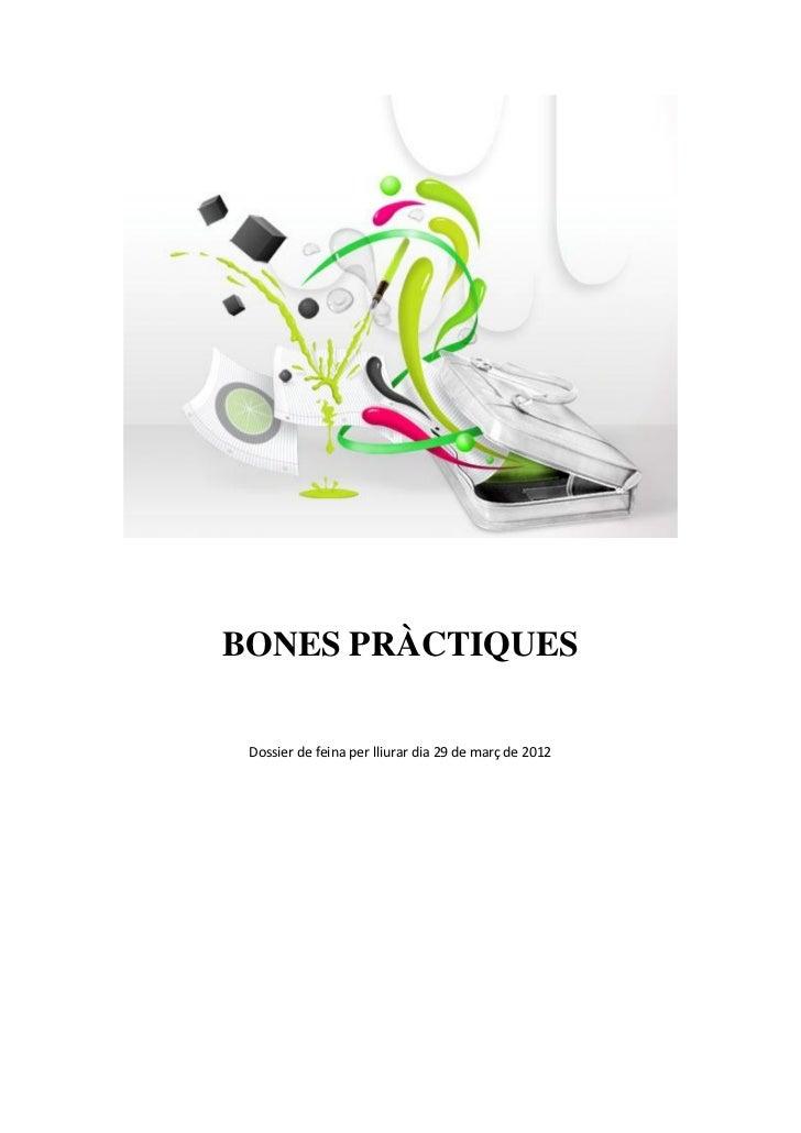 BONES PRÀCTIQUES Dossier de feina per lliurar dia 29 de març de 2012