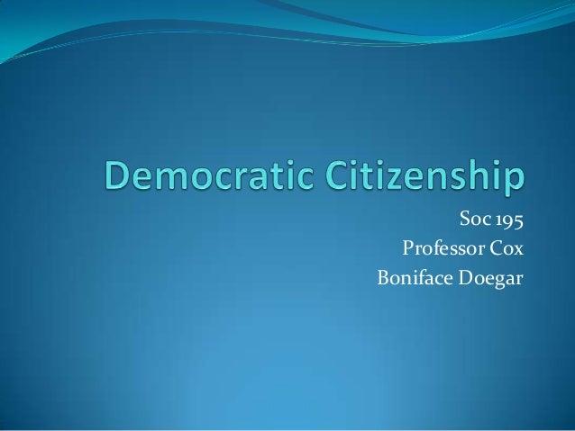 Boniface Doegar Sociology Presentation