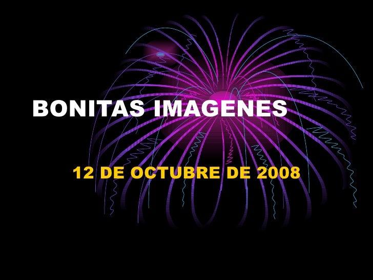BONITAS IMAGENES 12 DE OCTUBRE DE 2008