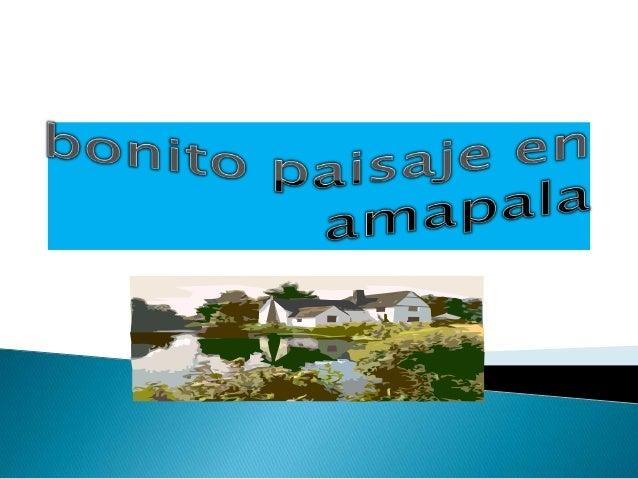 Bonito paisaje en amapala