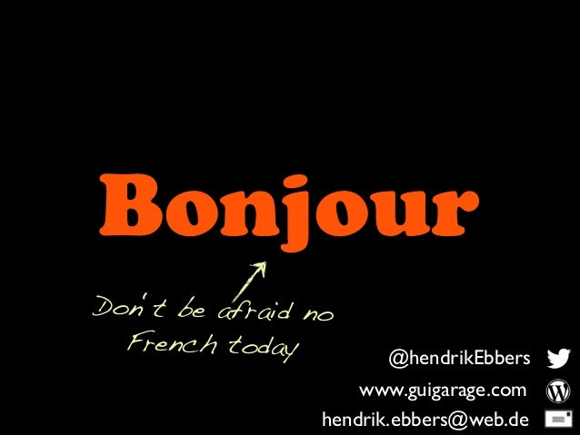Port Example @hendrikEbbers www.guigarage.com hendrik.ebbers@web.de Bonjour Don't be afraid no French today