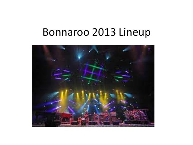 Bonnaroo 2013 line up