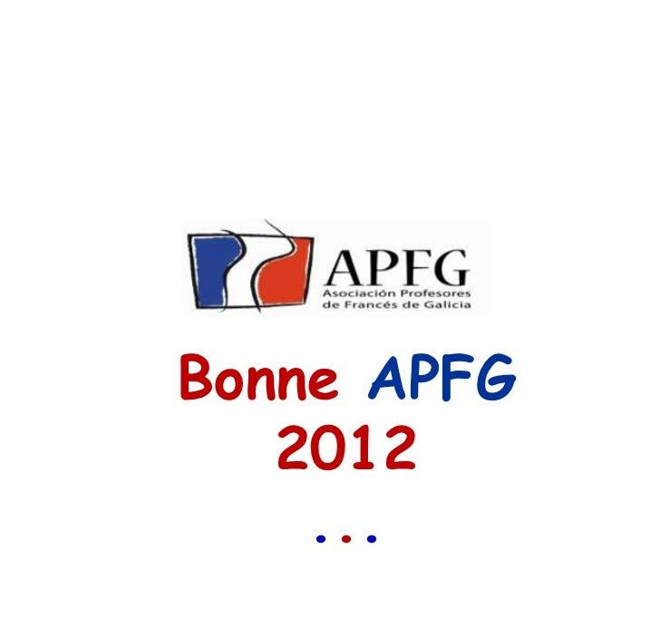 Bonne APFG   2012    ...