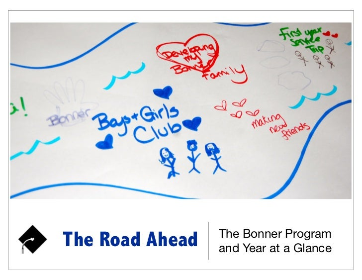 The Bonner ProgramThe Road Ahead   and Year at a Glance
