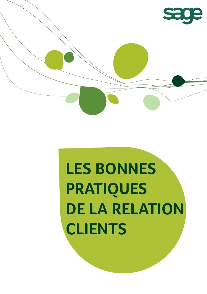 LES BONNESPRATIQUESDE LA RELATIONCLIENTS