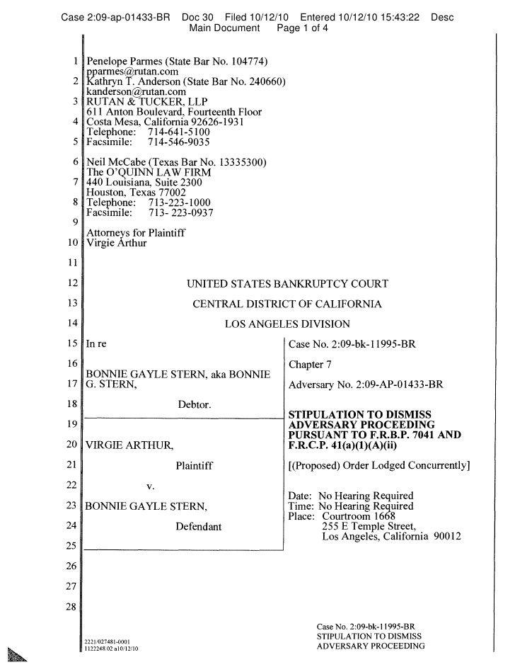 Case 2:09-ap-01433-BR              Doc 30 Filed 10/12/10 Entered 10/12/10 15:43:22        Desc                            ...