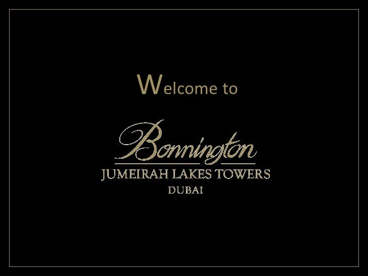 Bonnington Overview Presentation - January 2011