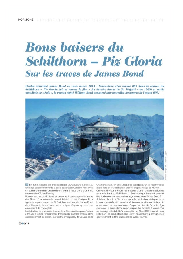 Bons baisers du Schilthorn - Piz Gloria, sur les traces de James Bond