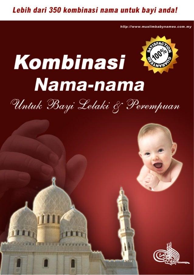 Bonus kombinasi nama nama untuk bayi lelaki dan perempuan
