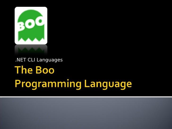 Boo Programming Language