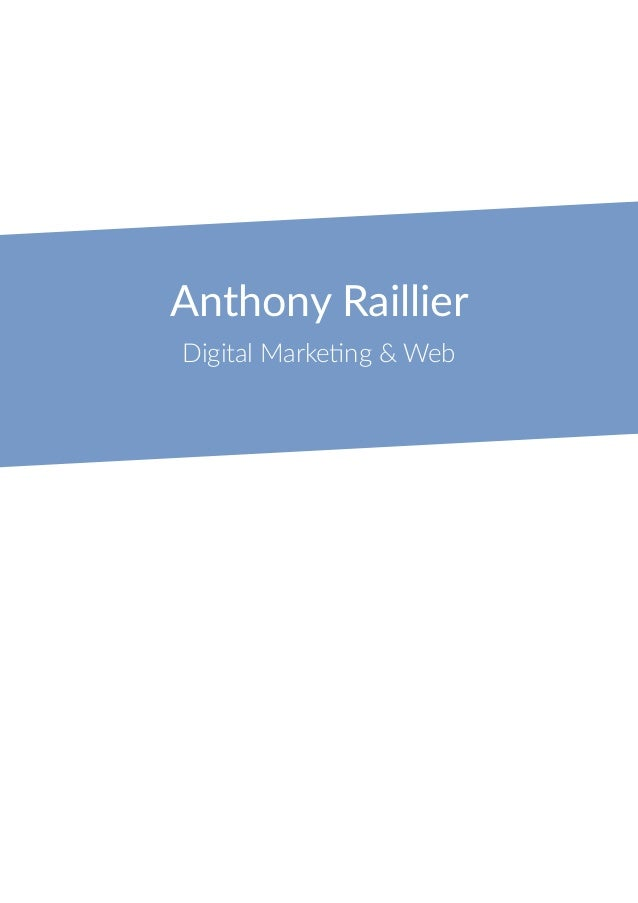 Anthony Raillier Digital Marketing & Web