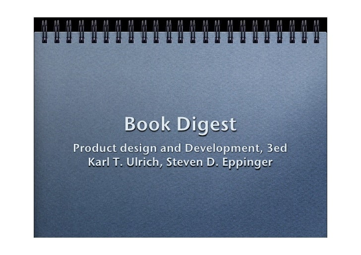 book digest: product design and development